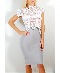 ballie crop top lace