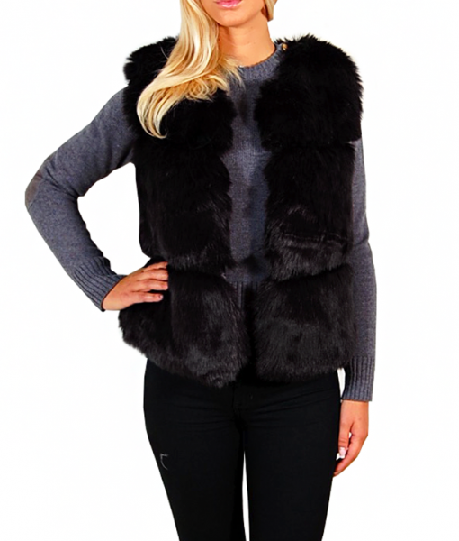 faux-fur-vest-black